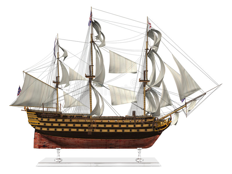 Modelo del acorazado stock de ilustración