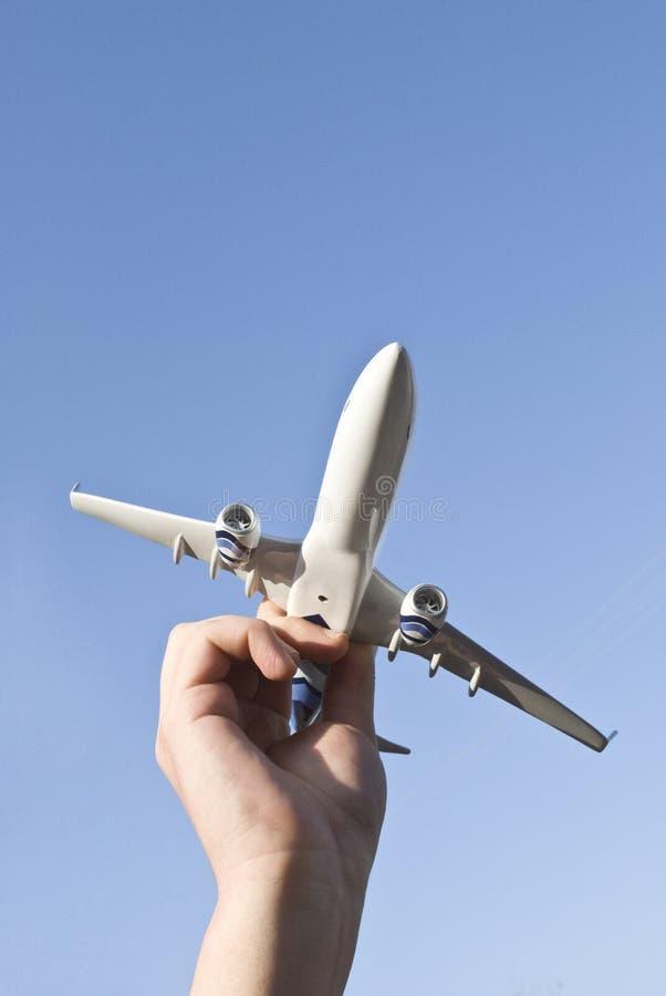 Modelo del aeroplano fotos de archivo
