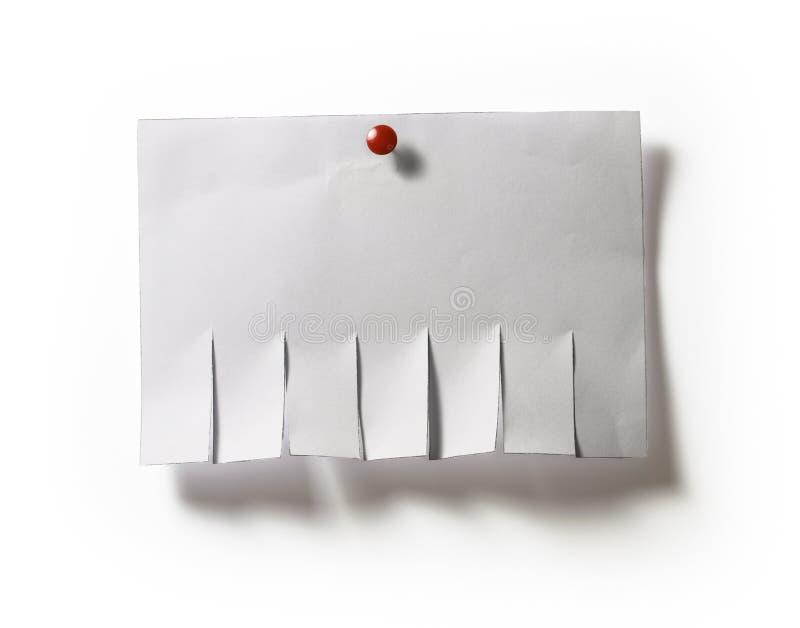 Modelo del anuncio con la tachuela imagen de archivo
