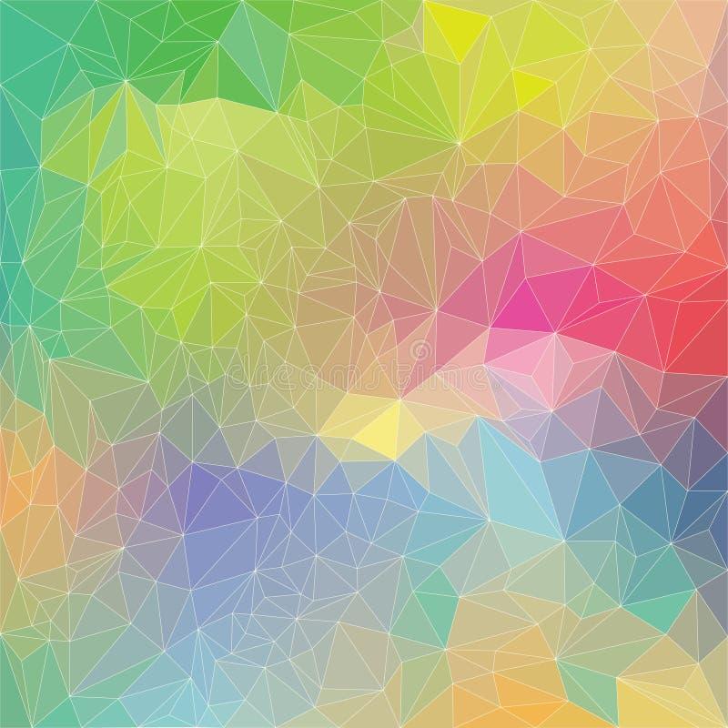 Modelo del arco iris del polígono libre illustration