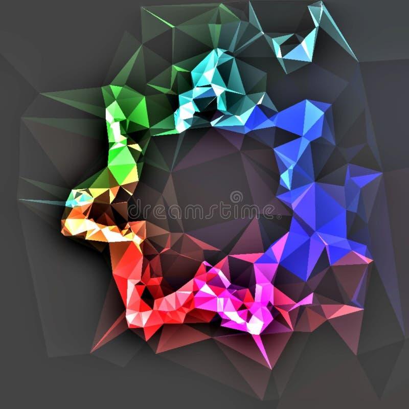 Modelo del arco iris del pol?gono stock de ilustración