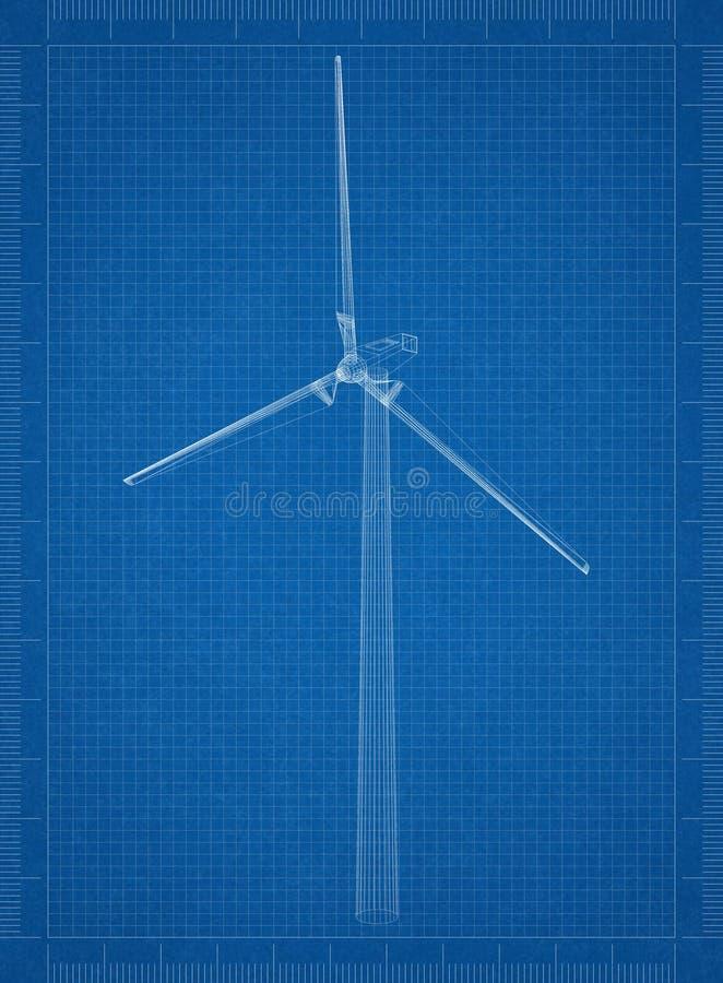 Modelo del arquitecto de la turbina de viento fotos de archivo