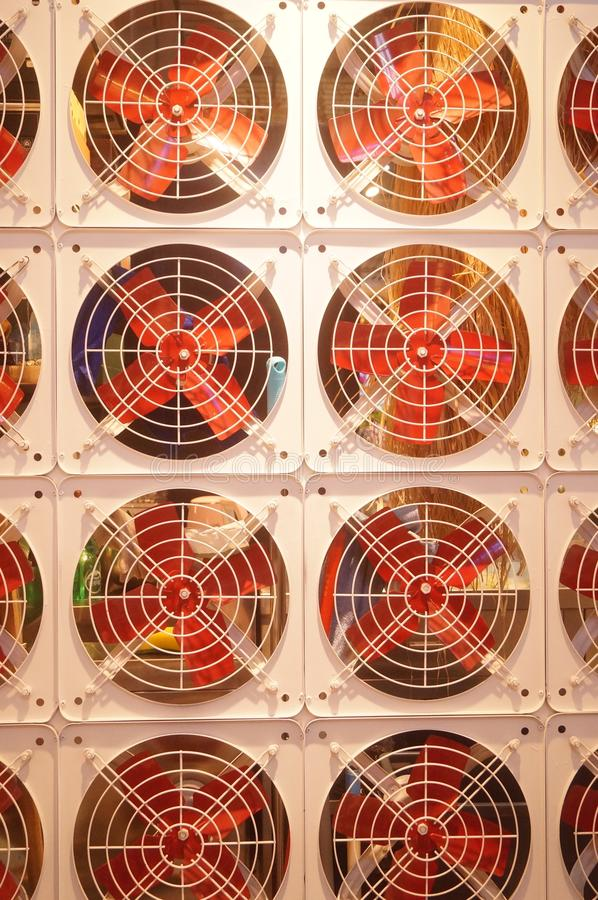 Modelo del arreglo de la fan, muy interesante imagen de archivo libre de regalías