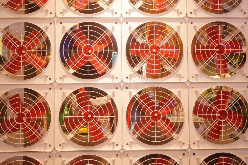 Modelo del arreglo de la fan, muy interesante fotografía de archivo libre de regalías