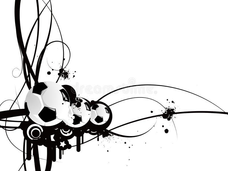 Modelo del balompié ilustración del vector