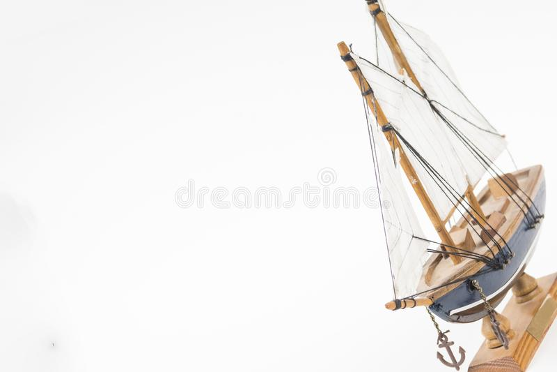 Modelo del barco de vela imagenes de archivo