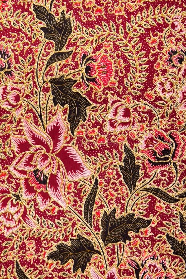 Modelo del batik con las rosas imagen de archivo libre de regalías