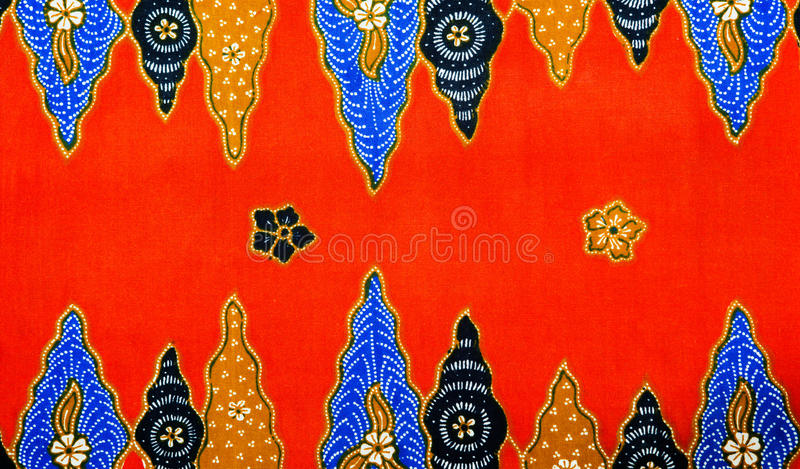 Modelo del batik de Malasia foto de archivo