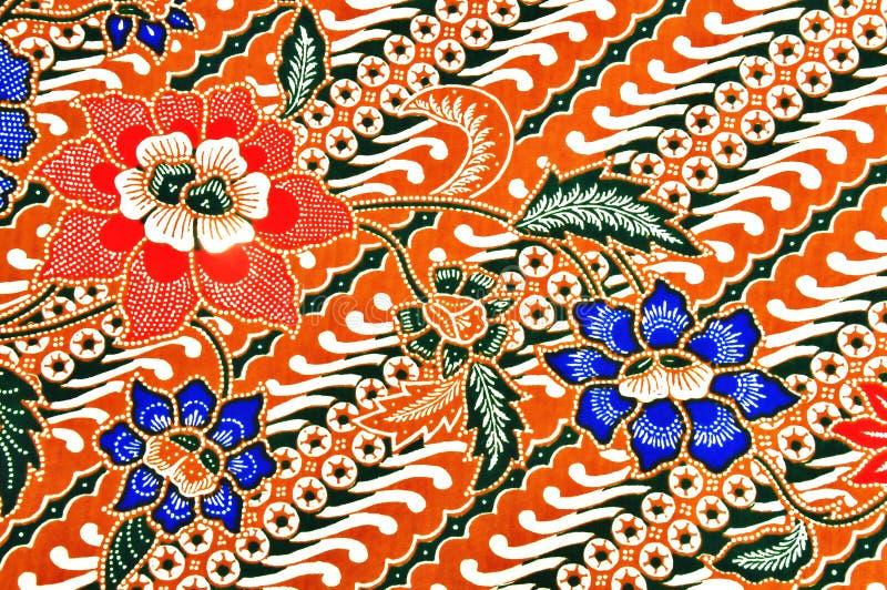 Modelo del batik del Javanese foto de archivo libre de regalías