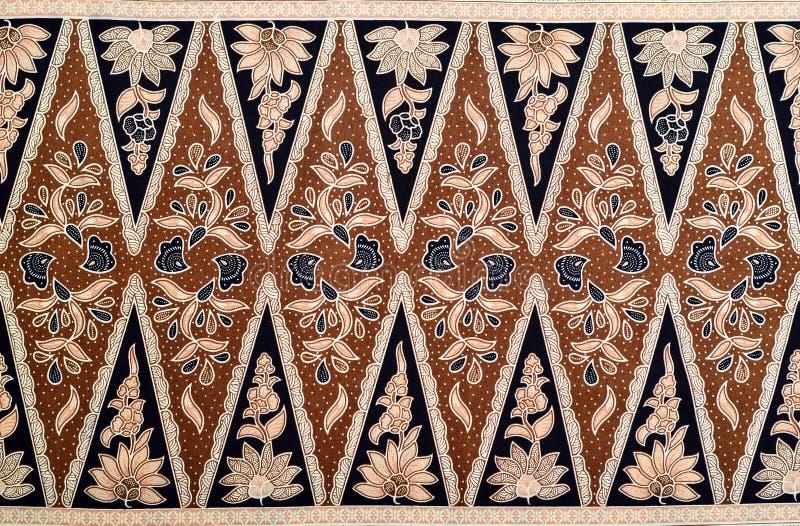 Modelo del batik del Javanese fotos de archivo