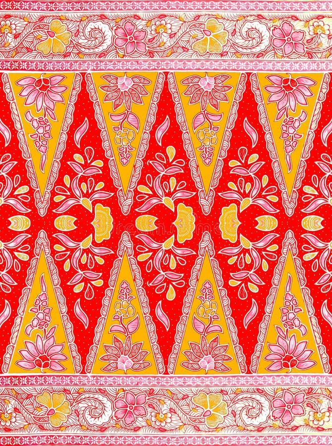 Modelo del batik del Javanese ilustración del vector