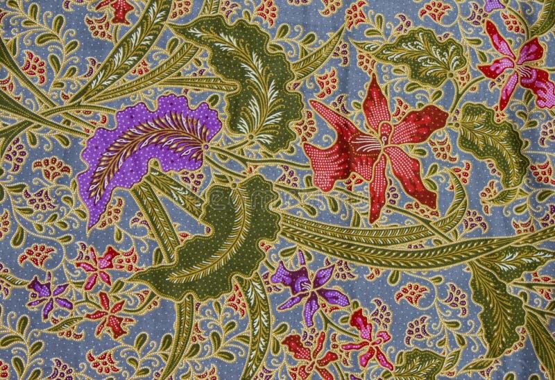 Modelo del batik, Indonesia foto de archivo