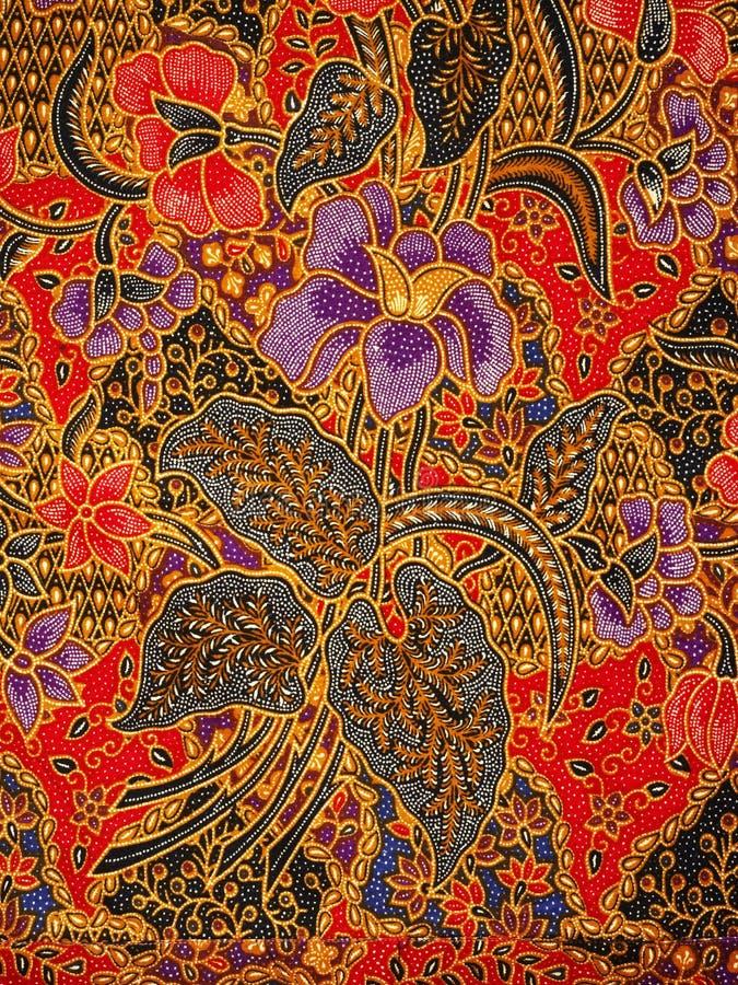 Modelo del batik, solo, Indonesia fotografía de archivo libre de regalías