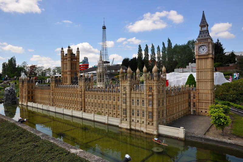 Modelo del Buckingham Palace Londres foto de archivo