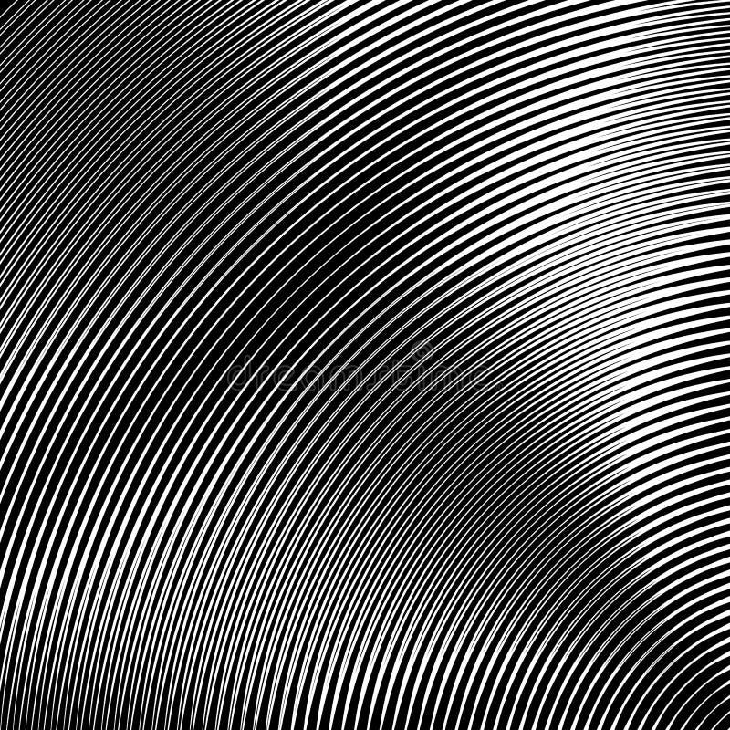 Modelo del círculo con las líneas dinámicas, irregulares Circular geométrica stock de ilustración