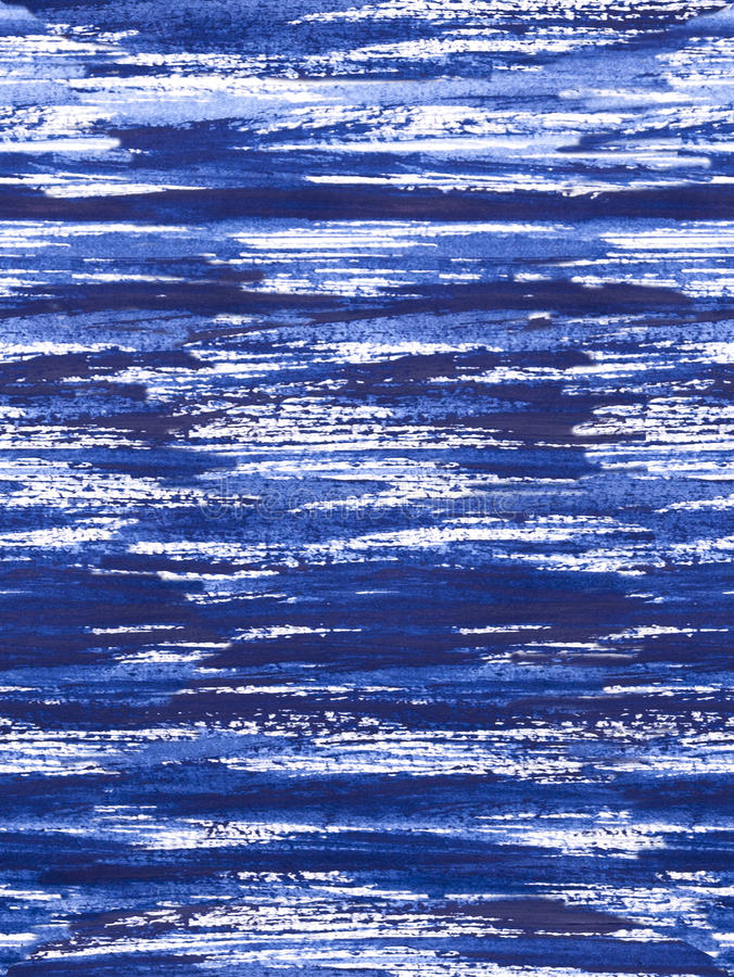 Modelo del círculo del zen - rayas calmantes azules imagen de archivo