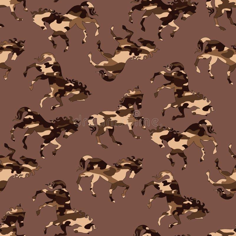 Modelo del caballo del camuflaje ilustración del vector
