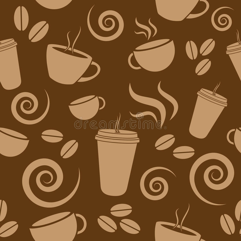 Modelo del café de Brown oscuro stock de ilustración