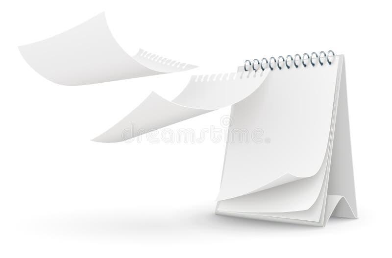 Modelo del calendario con las paginaciones en blanco libre illustration