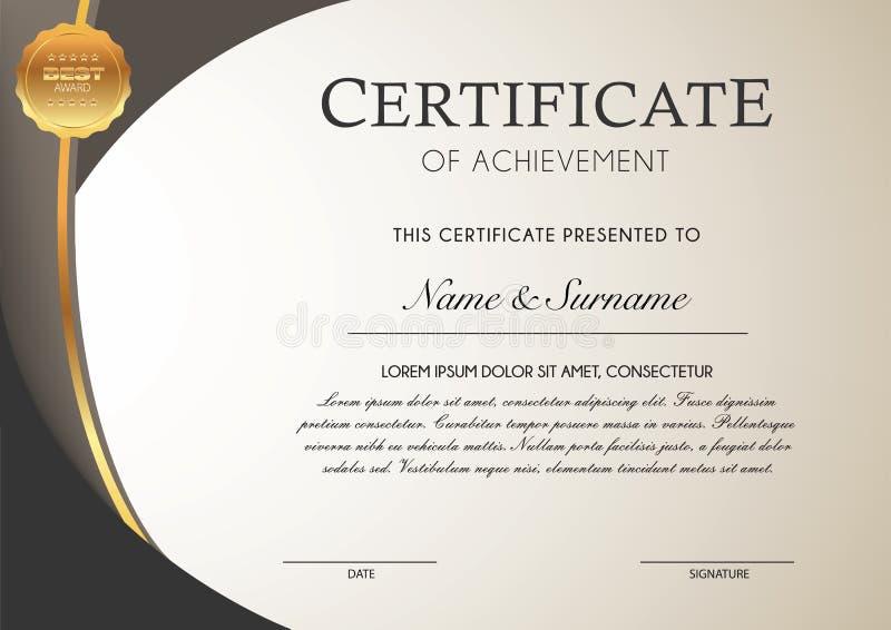 Modelo del certificado ilustración del vector