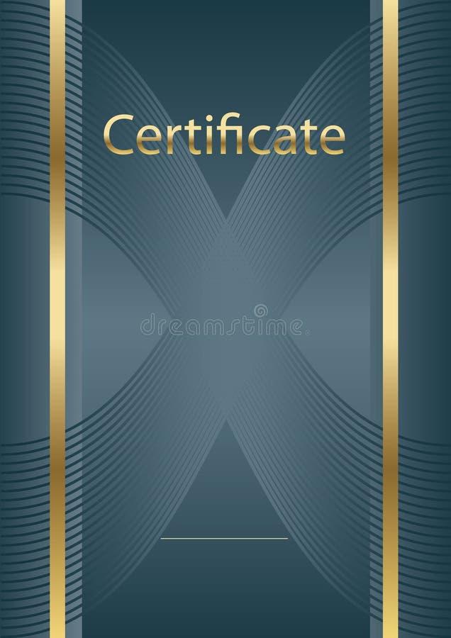 Modelo del certificado del fondo fotografía de archivo libre de regalías