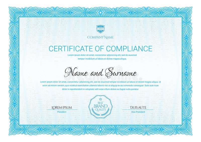 Modelo del certificado Diploma del diseño moderno o del chèque-cadeaux libre illustration