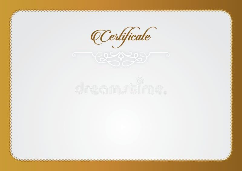 Modelo del certificado El tamaño del certificado A4, certificado presenta certificado ilustración del vector