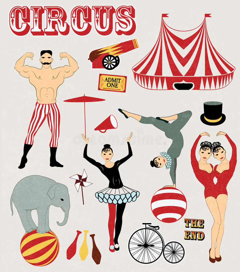 Modelo del circo libre illustration