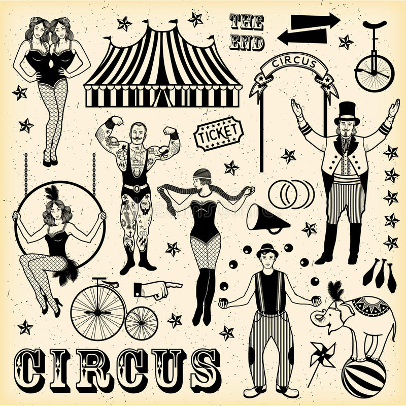 Modelo del circo ilustración del vector