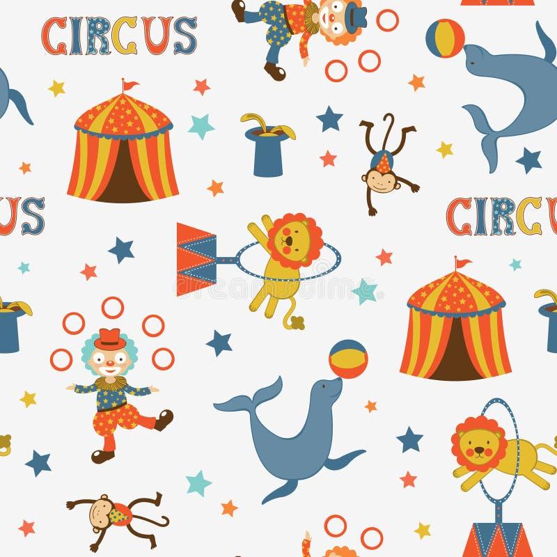 Modelo del circo de la diversión stock de ilustración