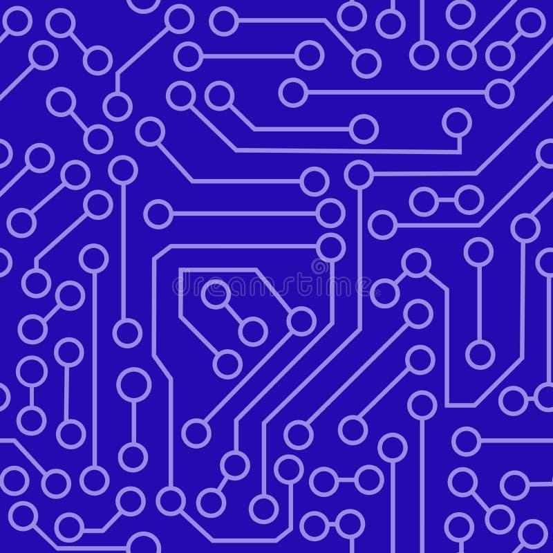 Modelo del circuito electrónico libre illustration