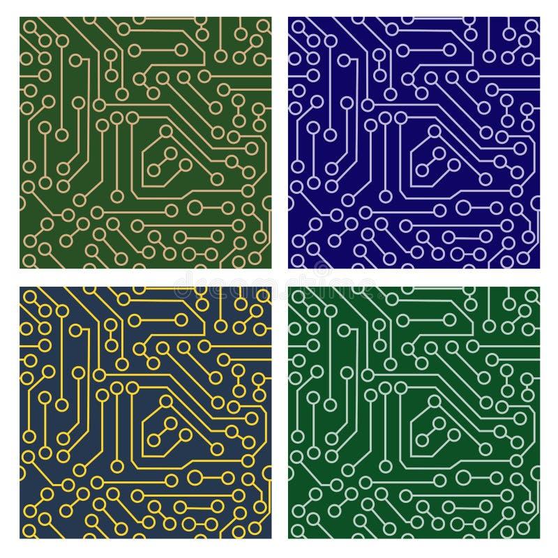 Modelo del circuito electrónico stock de ilustración