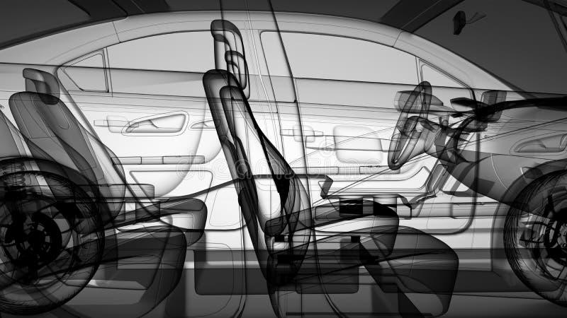 modelo del coche 3d ilustración del vector