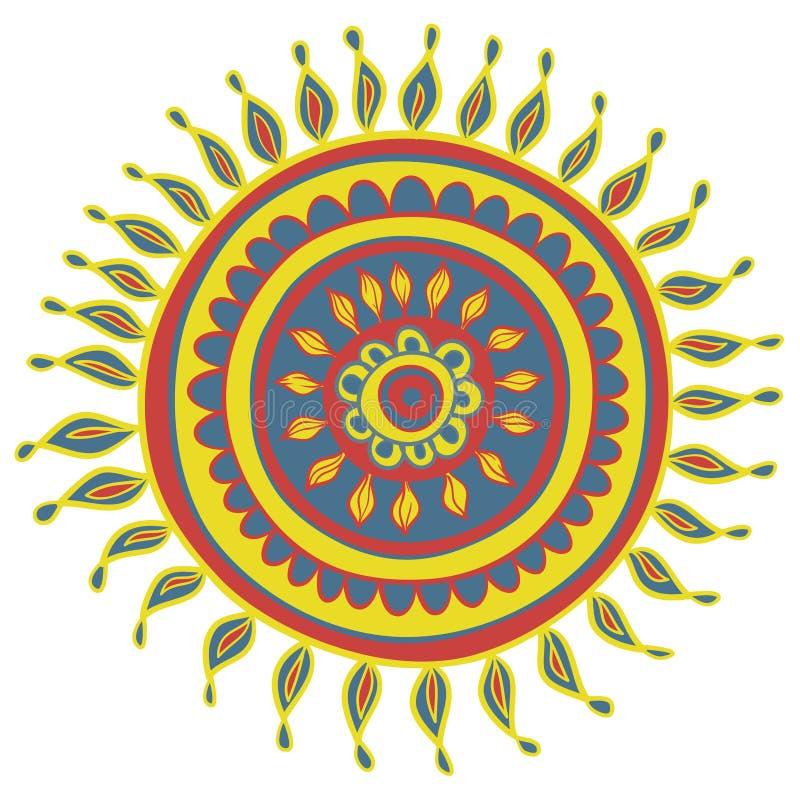 Modelo del color de la mandala en vector ilustración del vector