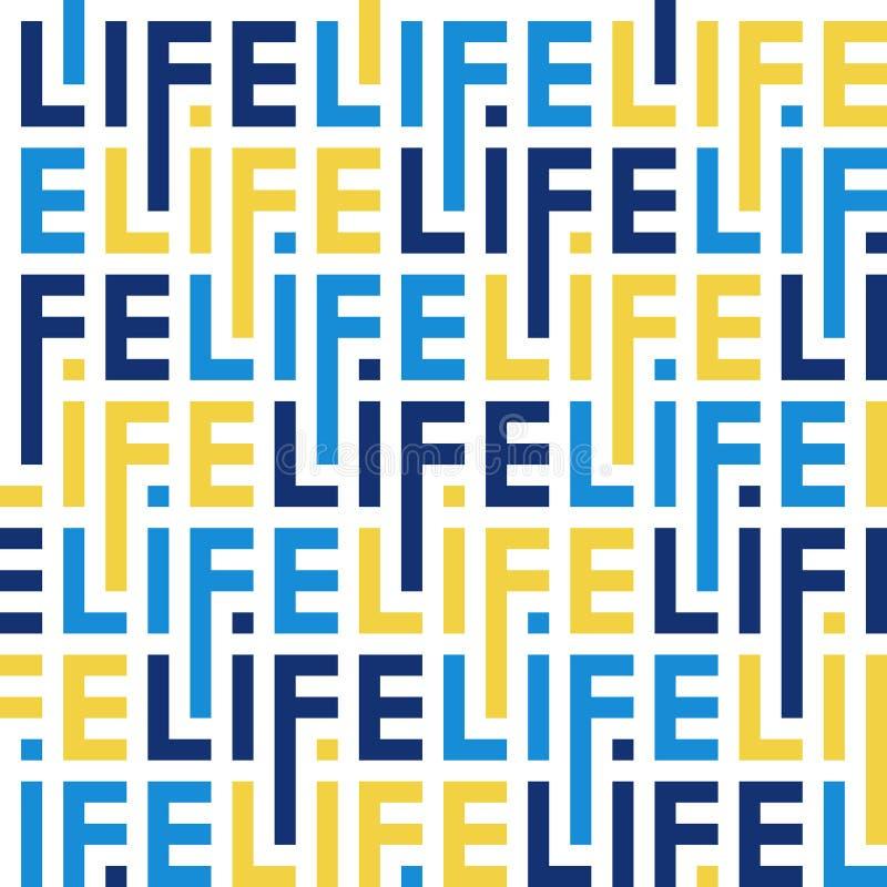 Modelo del color de las letras de la vida de la palabra stock de ilustración