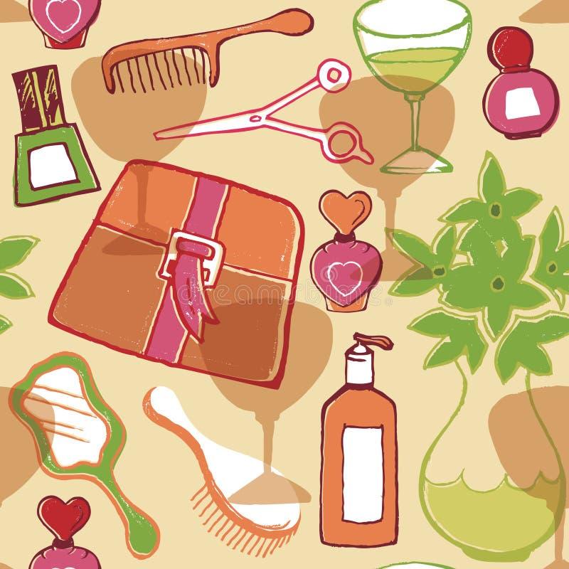 Modelo del cosmético de la belleza stock de ilustración