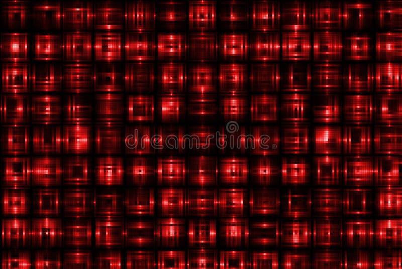 Modelo del cuadrado rojo ilustración del vector