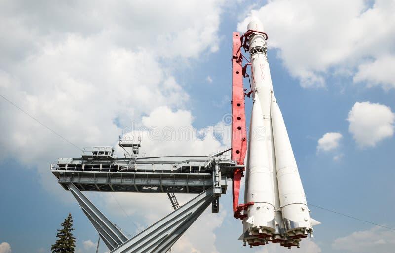 Modelo del ` de Vostok del ` del cohete imagen de archivo