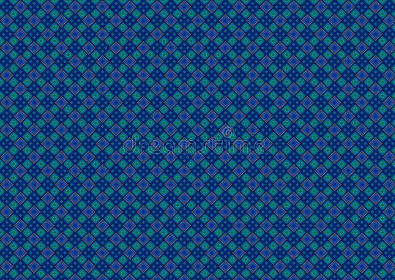 Modelo del diamante del verde azul stock de ilustración