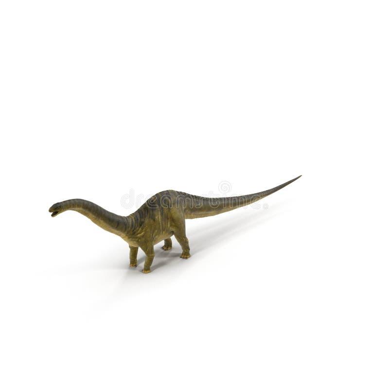 Modelo del dinosaurio del Apatosaurus en blanco ilustración 3D stock de ilustración