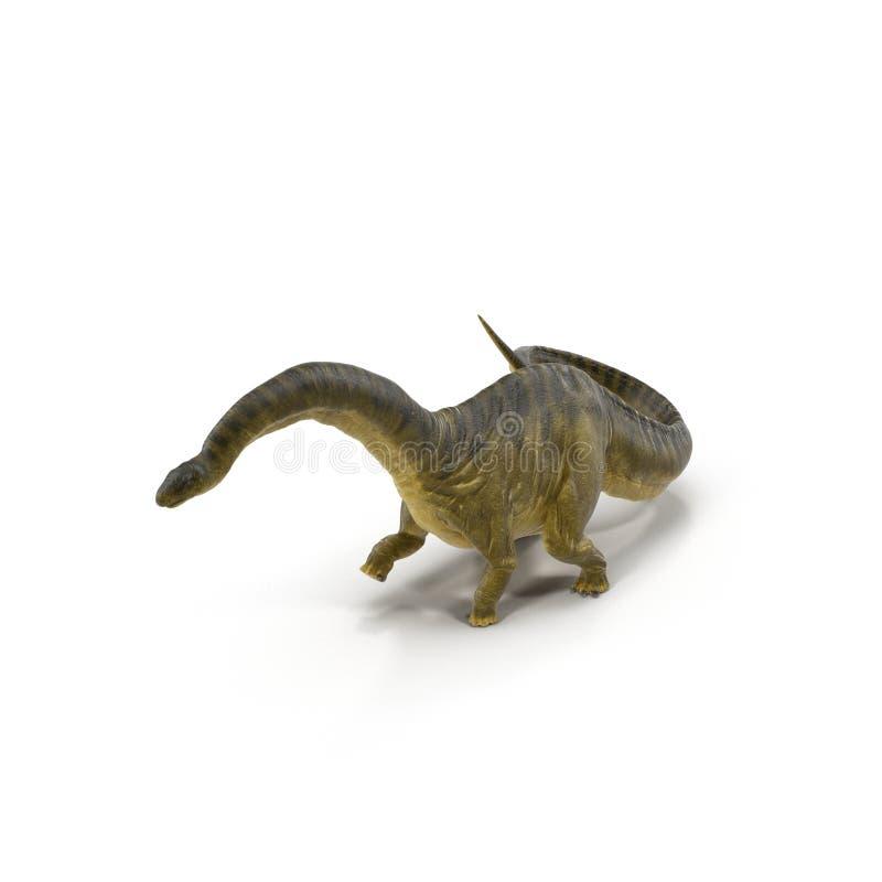 Modelo del dinosaurio del Apatosaurus en blanco ilustración 3D ilustración del vector