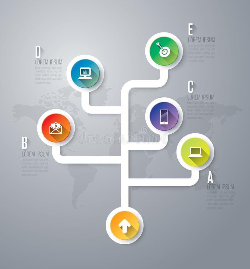 Modelo del diseño de Infographics libre illustration