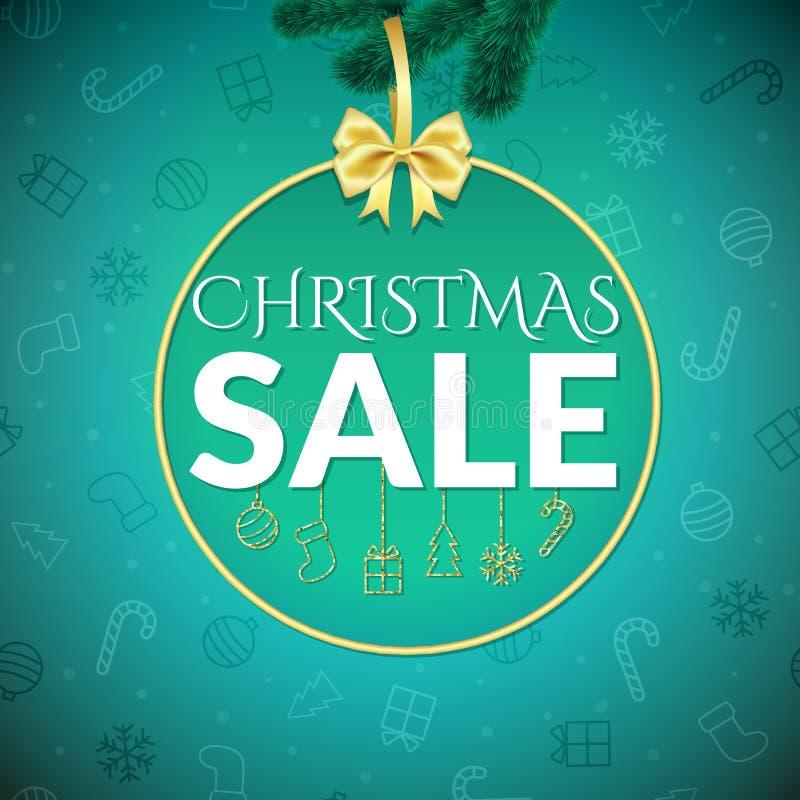 Modelo del diseño de la venta de la Navidad stock de ilustración