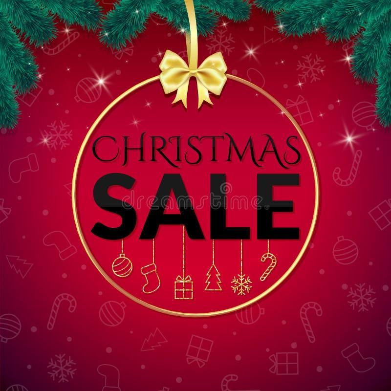 Modelo del diseño de la venta de la Navidad ilustración del vector