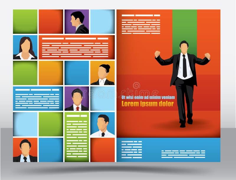 Modelo del diseño del folleto ilustración del vector