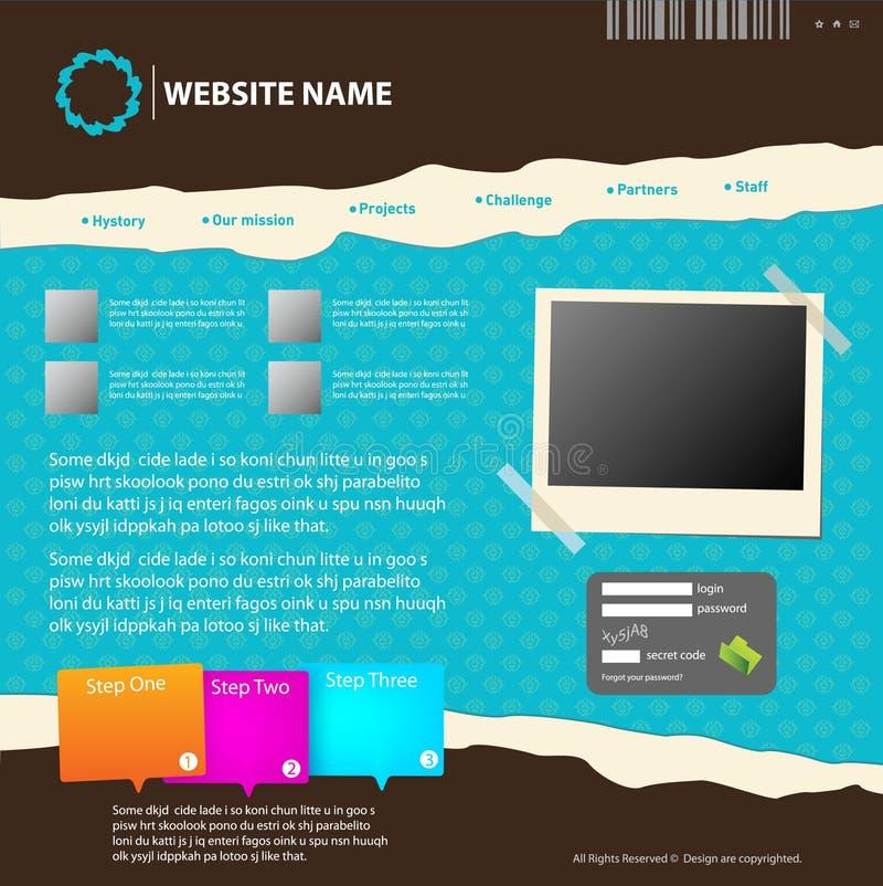 Modelo del diseño del Web site. ilustración del vector