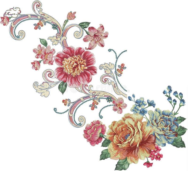 modelo del ejemplo de la flor en fondo simple ilustración del vector