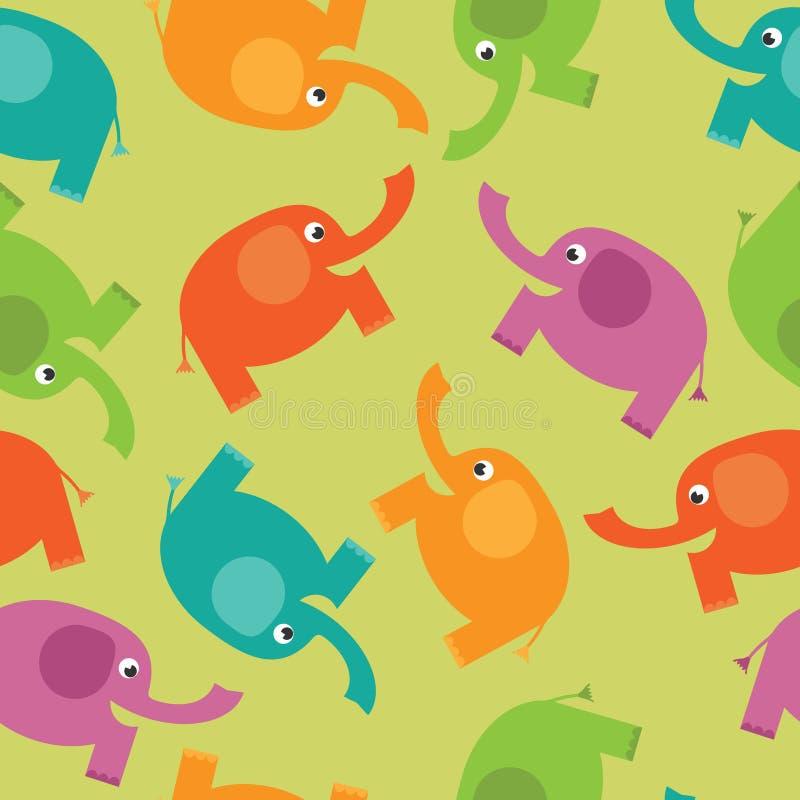 Modelo del elefante stock de ilustración