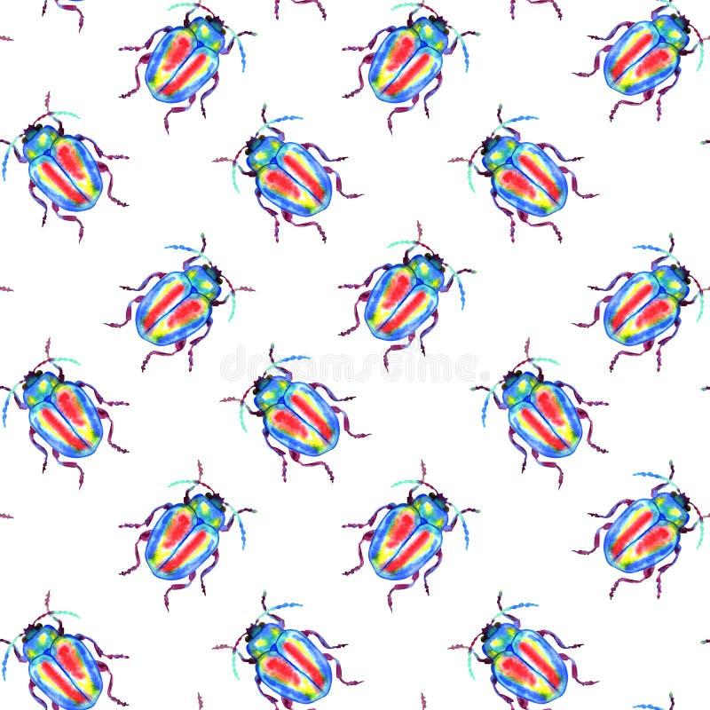 Modelo del escarabajo ilustración del vector