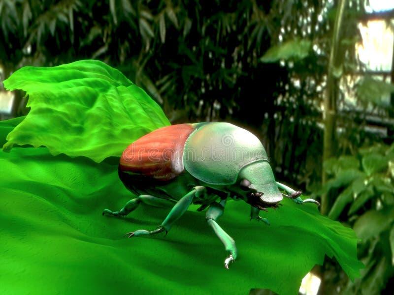 Modelo del escarabajo japonés 3d fotografía de archivo libre de regalías